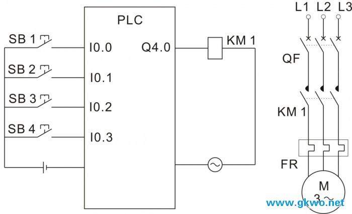 西门子plc的电动机两地同时控制编程案例