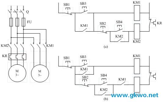 大学堂 电气技术      在机床控制线路中,经常要求电动机有顺序的起动