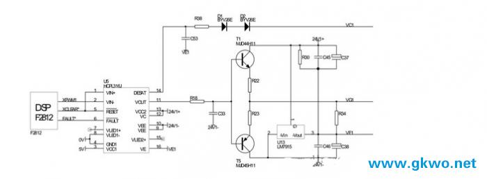 整个电路板的作用相当于一个光耦隔离放大电路.