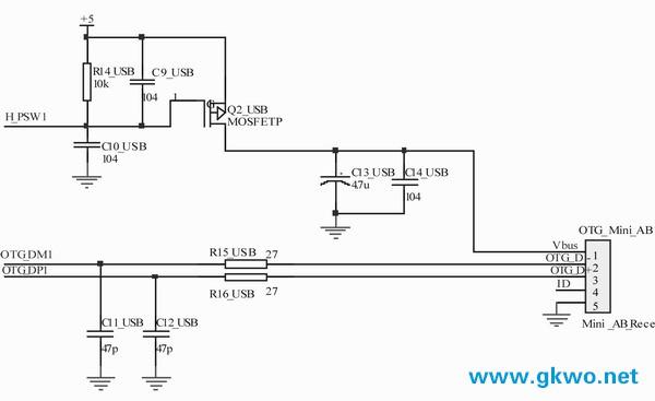 图3 otg端口电路图