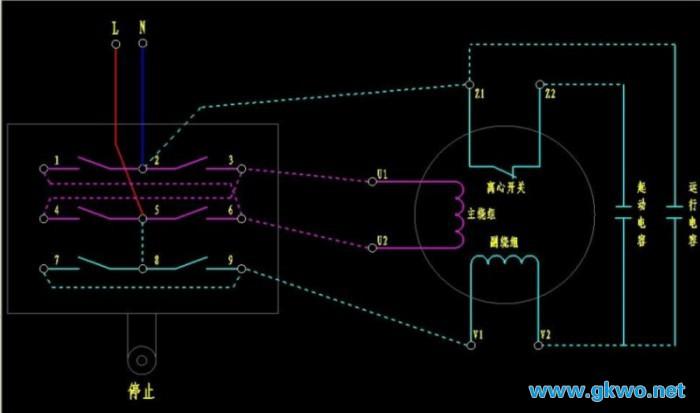 单相电机怎么接线_ 单相电机正反转接线图
