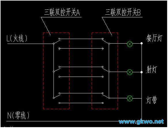 三联开关,简单理解就是这个开关面板上有3个开关,双控,就是指双控开关。三联双控,就是3个开关都是双控开关三联就是上面可以控制三个不同的电器,比如说上面有两个开关就称双联,有三位开关则称三联,双控是指该开关是双控功能的,知道双控吧,就是可以两个开关控制同一个地方的电器,一般都是灯了。三联双控就是把两者结合在一起。