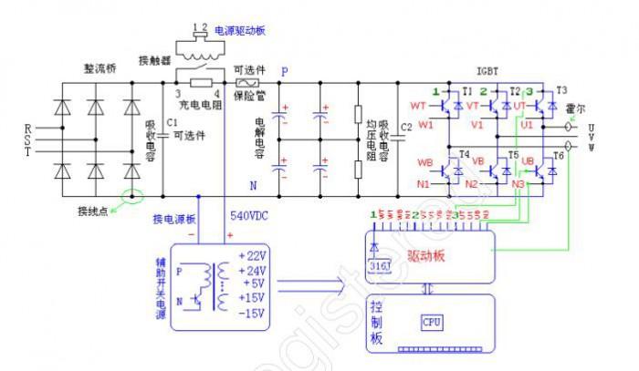 变频器原理简图