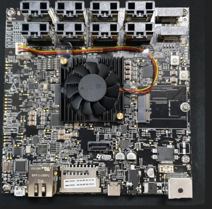 大联大品佳推出基于NXP的QNX之汽车数字仪表解决方案的展示板图